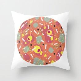 Stirred Not Shaken Coral Throw Pillow