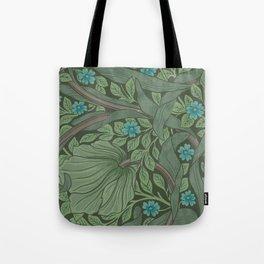 William Morris Art Nouveau Forget Me Not Floral Tote Bag