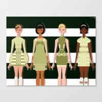 60s Canvas Prints featuring Mod 60s by Niki Sauter