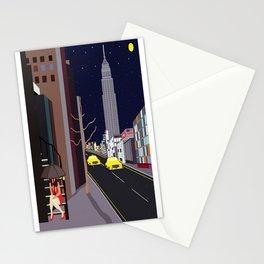 Raining in Manhattan Stationery Cards