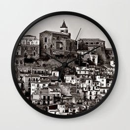 Sicilian Mountain Village Wall Clock