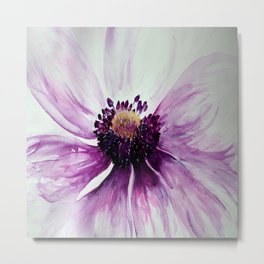 Sweet Anemone of Purple watercolor by CheyAnne Sexton Metal Print