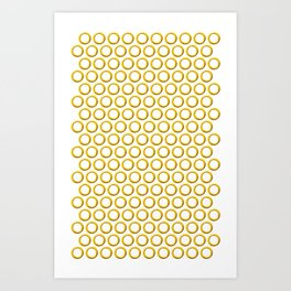 Sonic rings x180 Art Print