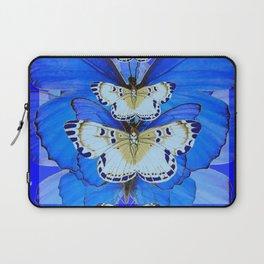 BLUE BUTTERFLIES ABSTRACT PATTERNS ART Laptop Sleeve