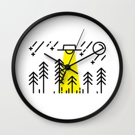 UFO - In The Woods Wall Clock