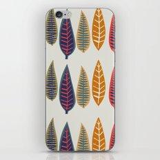 falling leaves iPhone Skin