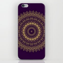 Harmony Circle of Gold on Purple iPhone Skin