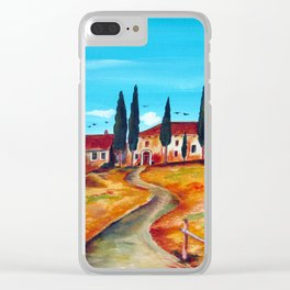 TUSCAN SUMMER Clear iPhone Case