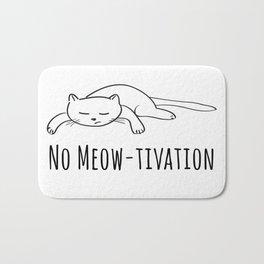 No Meow-tivation Bath Mat