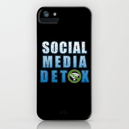 Social Media Detoxification Meditation instead iPhone Case