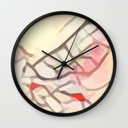 Crackle #6 Wall Clock
