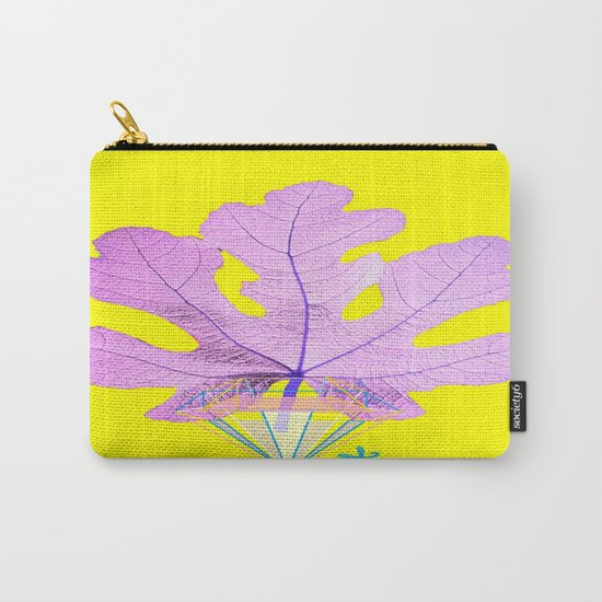 Fig Leaf Diamond Christmas Yellow Golden Carry-All Pouch