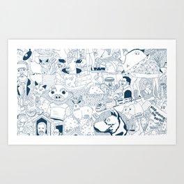 The Infinite Drawing Art Print