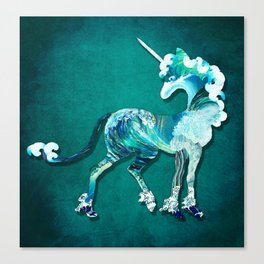 Unicorn of the Sea Canvas Print