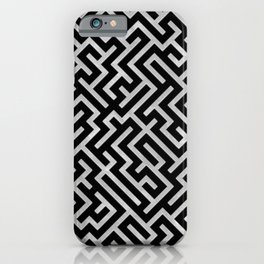 Maze -Black and Silver- iPhone Case