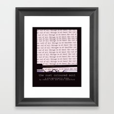 The Rust Coloured Soil: Typewriter Framed Art Print