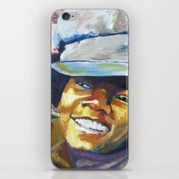 mike wrobel iPhone & iPod Skins featuring Young Mike by Monifa Charles
