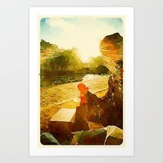 On the River Seine Art Print