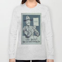 Vintage poster - Honorable Discharge Long Sleeve T-shirt