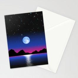 Moon Horizon 102 Black Sky Stationery Cards