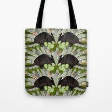 native armadillos green Tote Bag