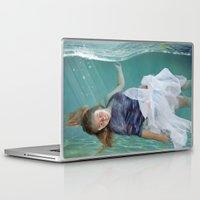 mermaid Laptop & iPad Skins featuring Mermaid  by Mary Kilbreath