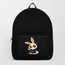 I Hate People Bunny Backpack