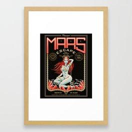the mars escape Framed Art Print