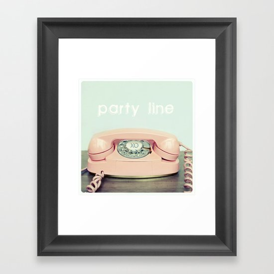Party Line Framed Art Print