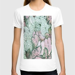 abstract art beautiful leaves T-shirt