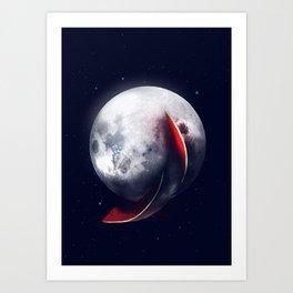 Watermelmoon Art Print