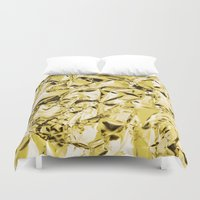 gold foil Duvet Covers featuring Gold foil by lamottedesign