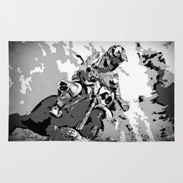 Motocross Dirt-Bike Championship Racer Rug