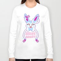 sylveon Long Sleeve T-shirts featuring shiny sylveon by deerboywonder