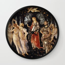 La Primavera - Allegory Of Spring - Sandro Botticelli Wall Clock