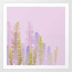 3d nature pink side Art Print