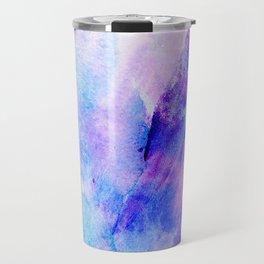 Hand painted blush pink teal blue watercolor brushstrokes Travel Mug
