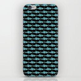 Sharks Black iPhone Skin