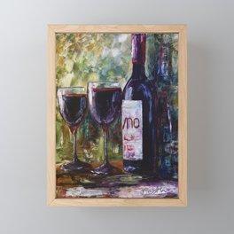 Aged Wine Framed Mini Art Print