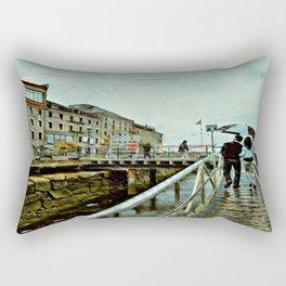 Boston Rain: Exit Gate 3 Rectangular Pillow
