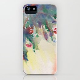 'A Little Holiday Cheer' Watercolor Painting iPhone Case