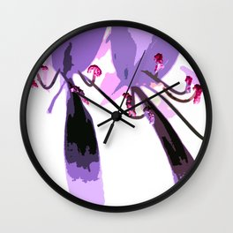 Lavender Notes Wall Clock