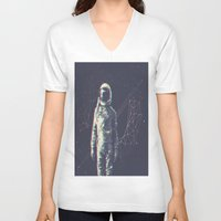 spaceman V-neck T-shirts featuring Spaceman by Aeodi Graphics