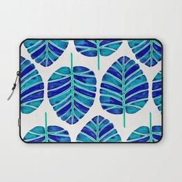 Elephant Ear Alocasia – Blue & Turquoise Palette Laptop Sleeve
