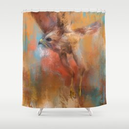 Crazy First Flight Shower Curtain
