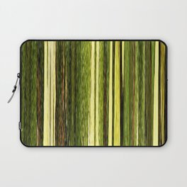 green beige brown yellow abstract striped digital design Laptop Sleeve