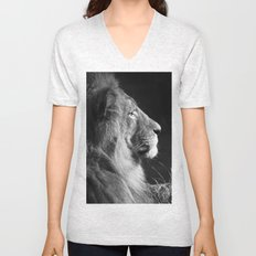 Pretty Kitty in Black & White Unisex V-Neck