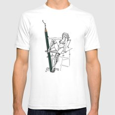 what a big pencil you have White SMALL Mens Fitted Tee