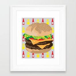 Double Cheeseburger Framed Art Print