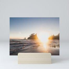 Sunset on Second Beach Mini Art Print